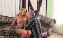 Cock hungry blond milf gets her mature pussy eaten by her
