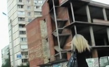 European Amateur Gives Wicked Head Outdoors In Public