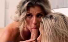 Teen and her bf bangs huge boobs mom