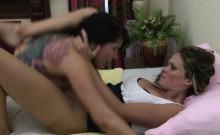 Lesbian moans loud in pussy scissor sex