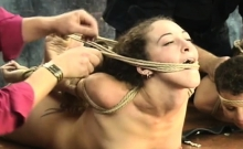 Amateur slavery xxx pussy play with rough toys