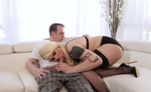 Chubby nurse shemale anal fucked by a horny patient