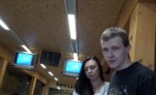 HUNT4K. Sex in a bowling place - I've got strike!