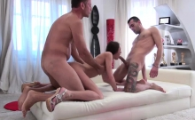 Katy Rose enjoys her butthole and pussy rammed by two cocks
