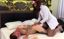 Tranny Nurse Dominates A Guy She Tortures Him In Many Ways