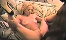 Amazing blonde having hardcore interracial sex