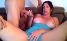 Horny Brunette Milf Gives A Great Amateur Handjob