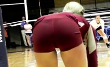 AMAZING ASSES AND CAMELTOES OF TEEN VOLLEYBALL PLAYERS