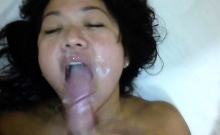 Asian rookie hooker loves cum