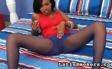 Hot Smoking Girl Masturbates