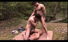 Bisexual Outdoor Threesome