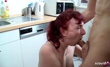 Two German Old Woman Mature Seduce Neigbor to Fuck FFM 3Some