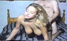 Busty amateur blonde milf