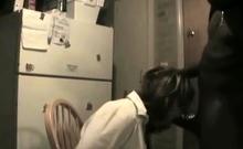 White slut enjoys black cocks in interracial gang bang