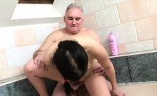 Ambitious brunette lady Seraphima fucked in all poses