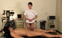 Asian Cumshot and dildo massage on pussy