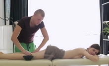 Sexual blonde russian maid Anna Taylor gets wrecked