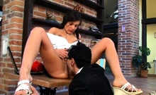 Luxurious russian teen gf gets licked and nailed