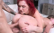 Bitch Banged Babe Gets Cummed And Do Lesbian Cum Swap