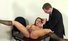 Sexy brunette getting hot spanking
